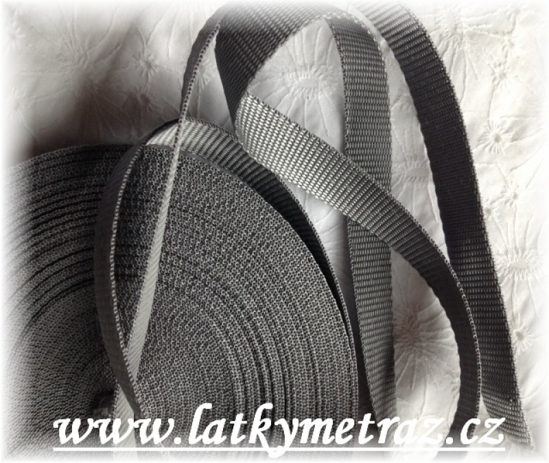 popruh šedý šíře 20 mm