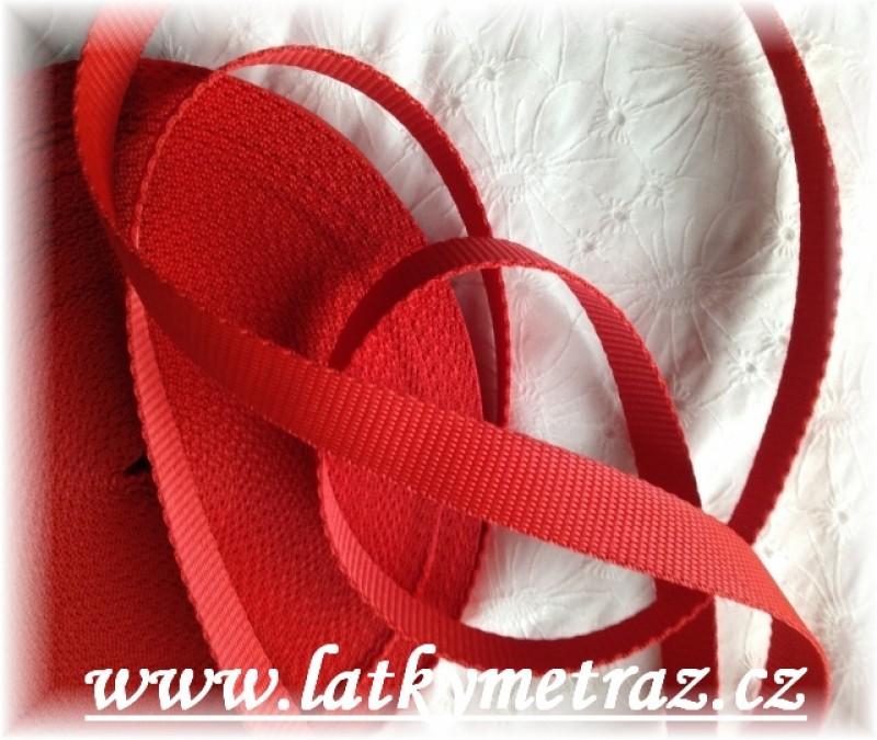 popruh červený  šíře 20 mm