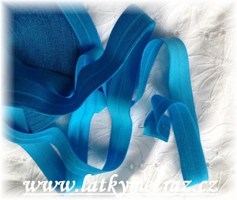 pruženka lemovací půlená-modrá
