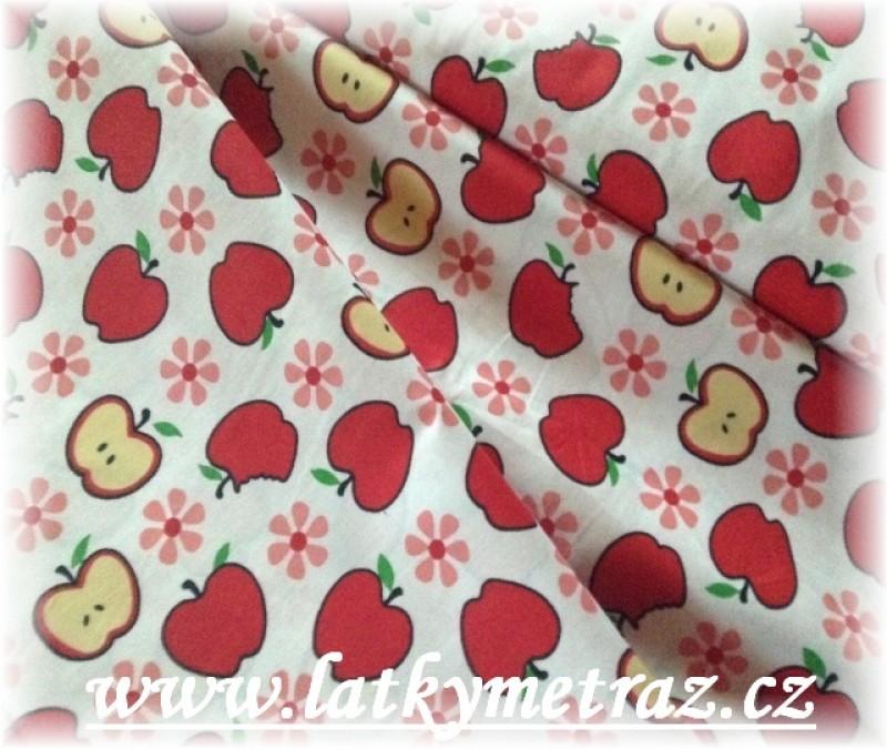 jablíčka s červenou