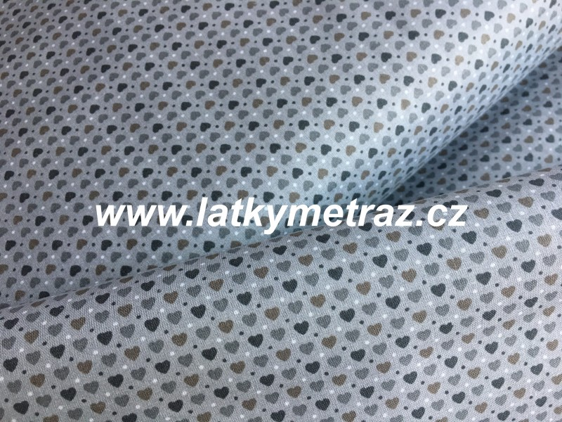 srdíčko šedo-béžové-zbytek 48 cm