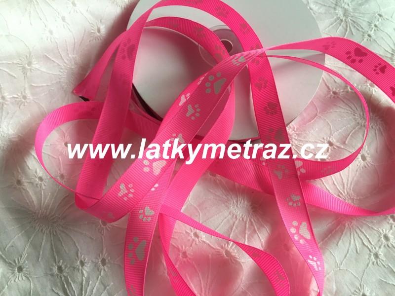 rypsová stuha-růžová šíře 15 mm