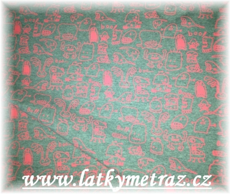příšerky-neon růžové