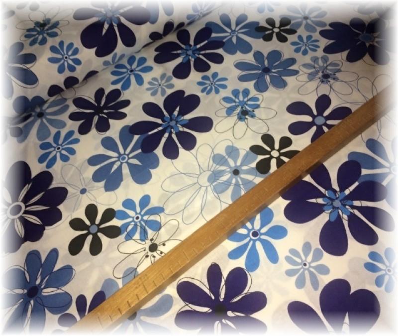 květiny-tmavě modré-zbytek 50 cm