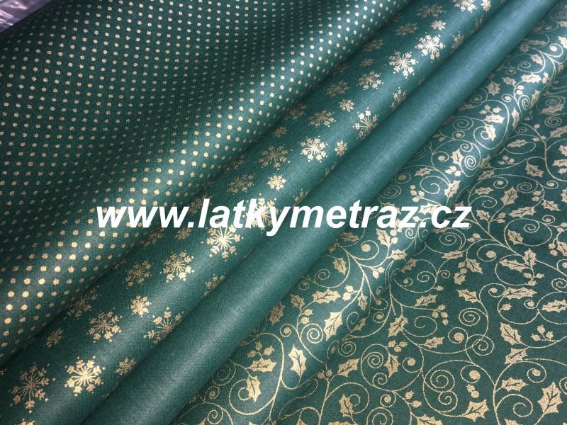 zelená kolekce-vločky-zbytek 65 cm
