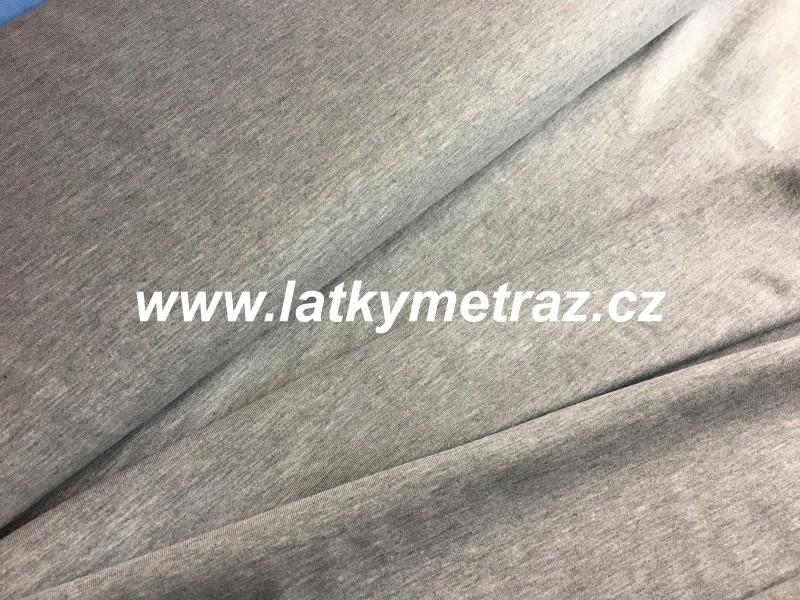 úplet--světle šedý šíře 180 cm-zbytek 35 cm