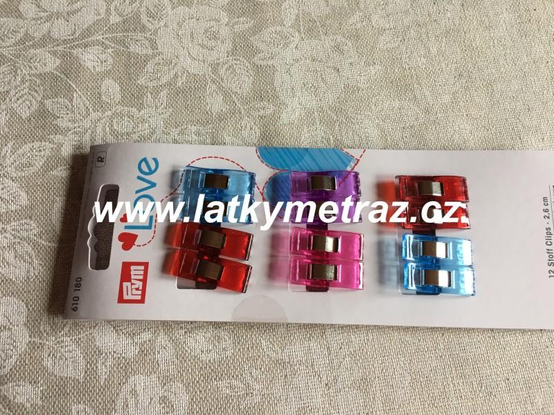 svorky na textil-12 ks