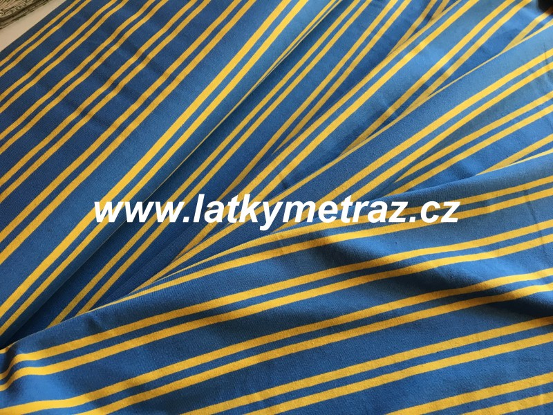 úplet pruhy modro-žluté