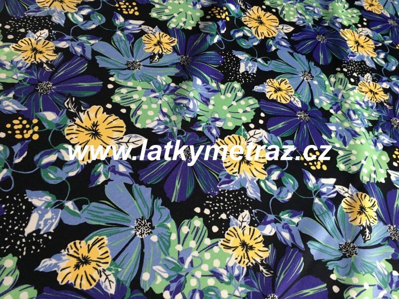 kočárkovina--kytky modré