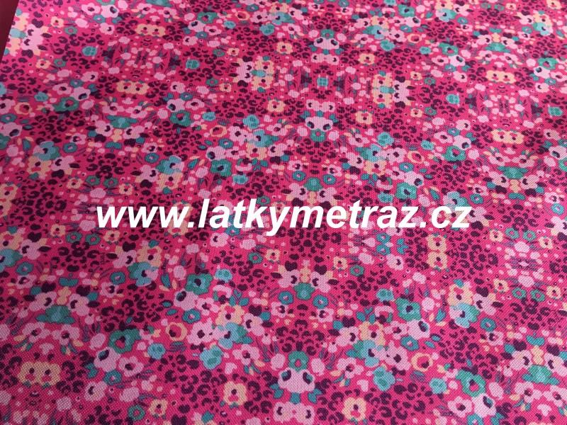 batohovina-cordura s PVC zátěrem-růžové vzory