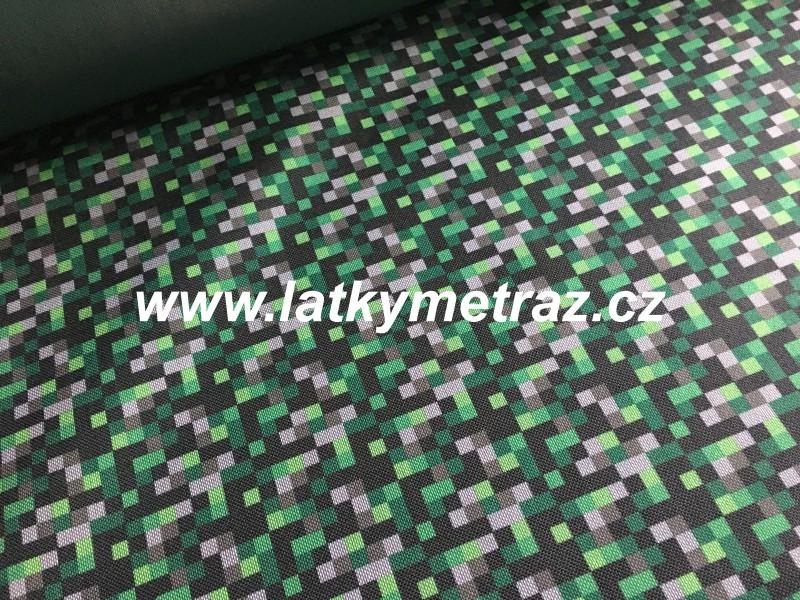 batohovina-cordura s PVC zátěrem-zelené vzory