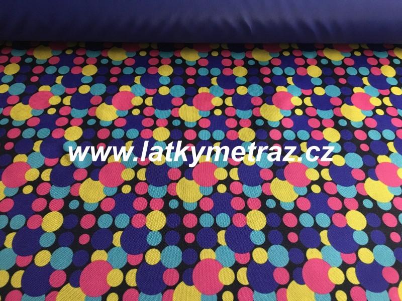 batohovina-cordura s PVC zátěrem-puntíky