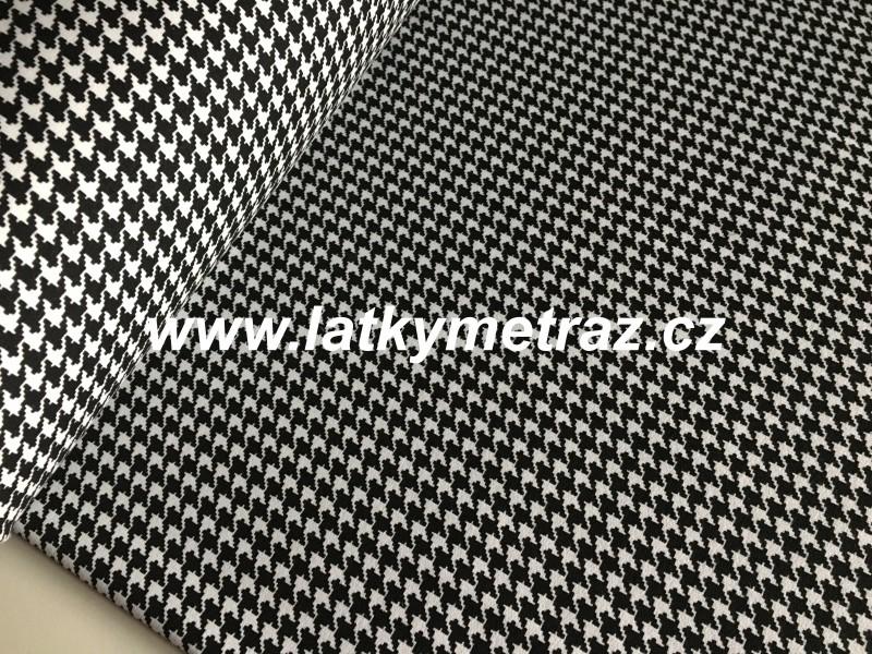 teplákovina bílo-černé pepitko-zbytek 70 cm