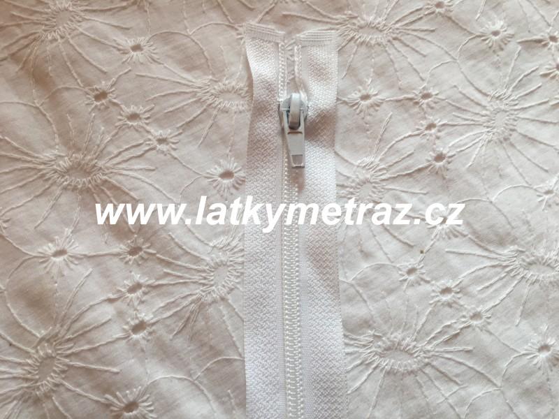 zip spirálový dělitelný 70 cm-bílý