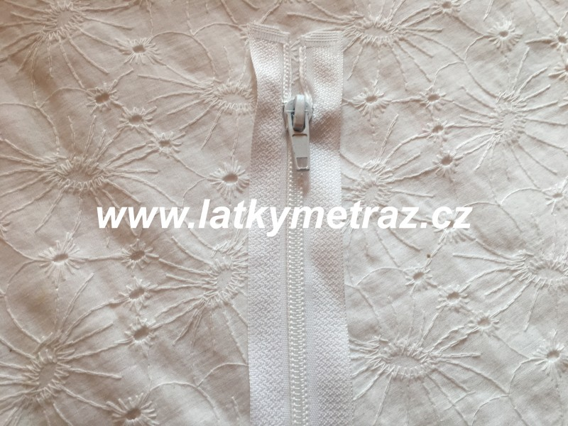 zip spirálový dělitelný 50 cm-bílý