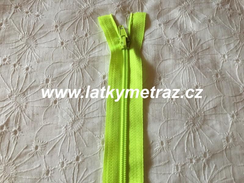 zip spirálový dělitelný 50 cm-neon