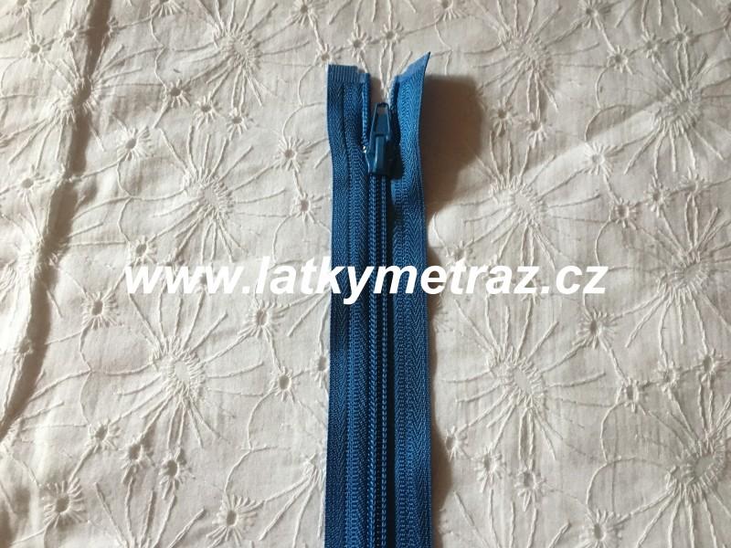 zip spirálový dělitelný 50 cm-modrý