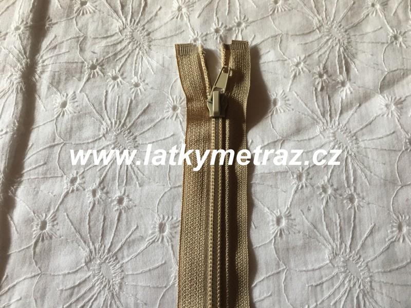 zip spirálový dělitelný 65 cm-béžový