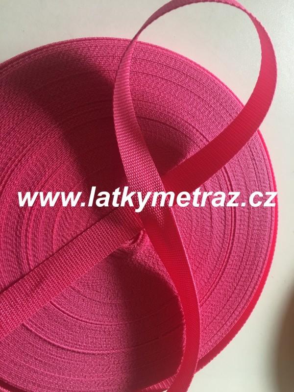 popruh-růžový-šíře 30 mm