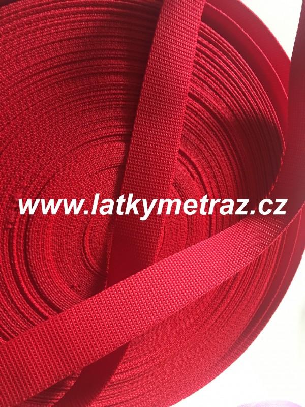 popruh červený  šíře 30 mm