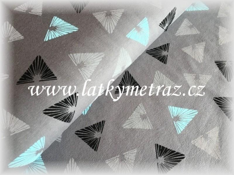 úplet-triangles s mentolovou-zbytek 1 metr