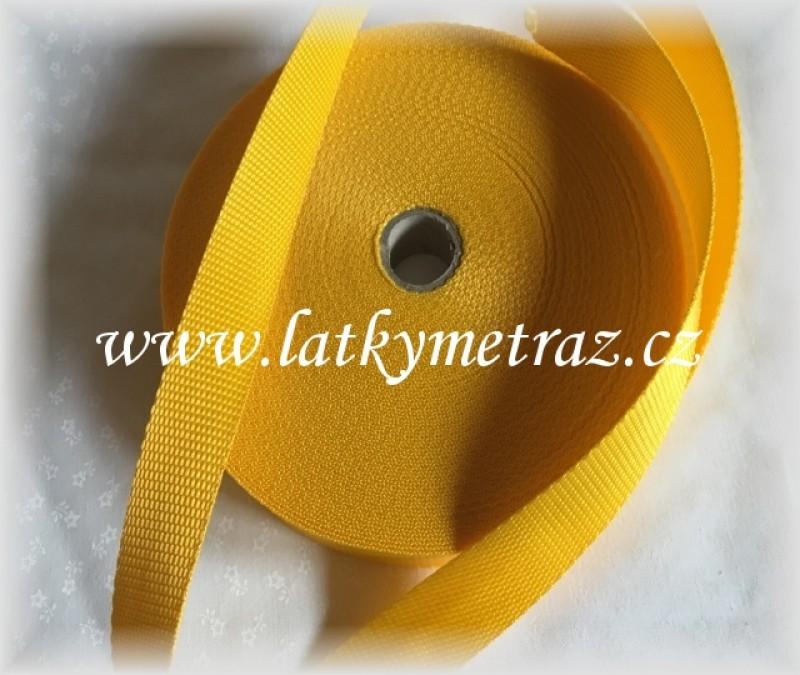 popruh-žlutý  25 mm