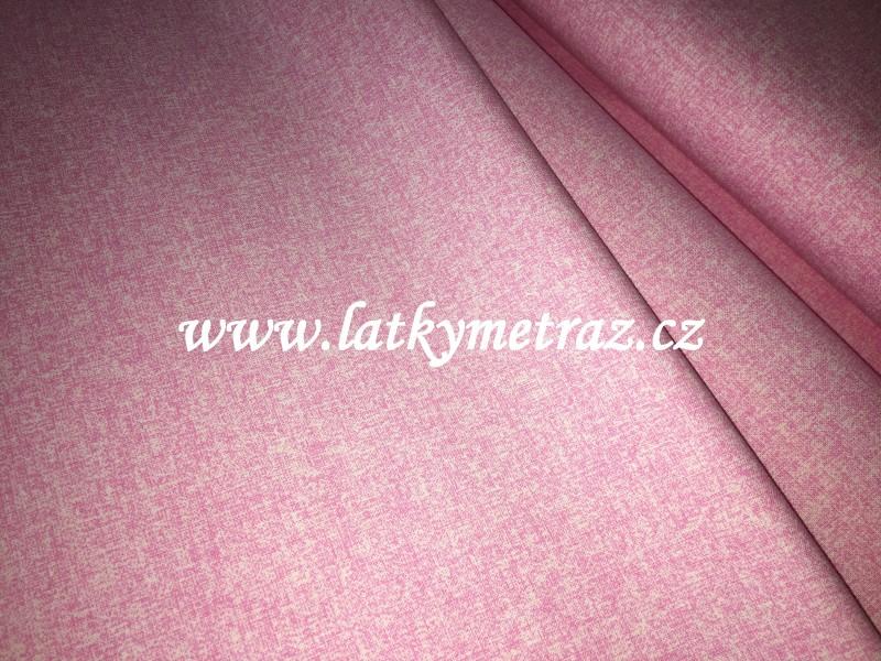 jednobarevná-melír růžová-zbytek 75 cm