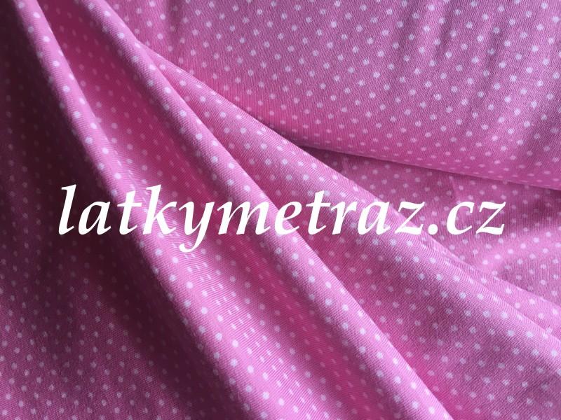 úplet-puntíček růžový-zbytek 68 cm