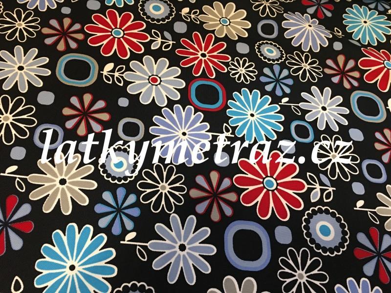 kočárkovina-kytky-modro-červené-zbytek 65 cm