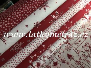 červená kolekce-domečky na bílé