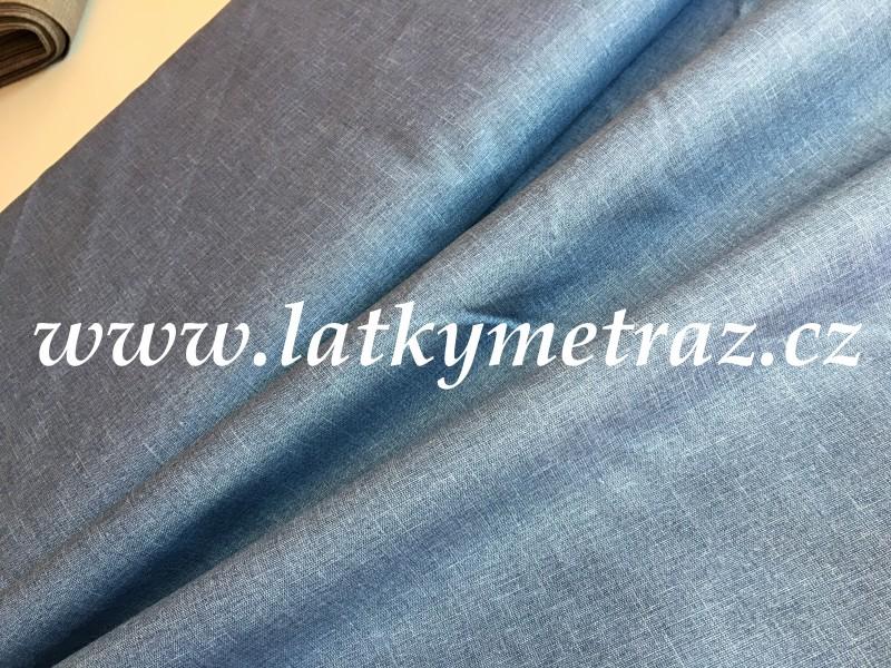 látka-modrá uni-zbytek 40 cm
