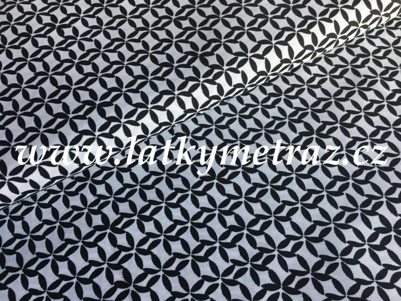 kočárkovina-bílo černá