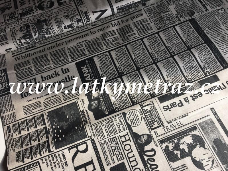 novinový tisk-zbytek 98 cm