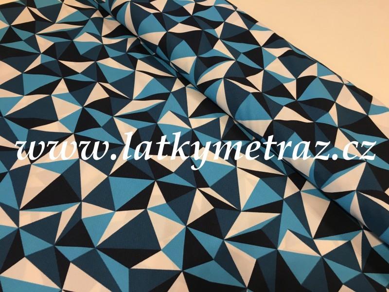 kočárkovina-modré vzory