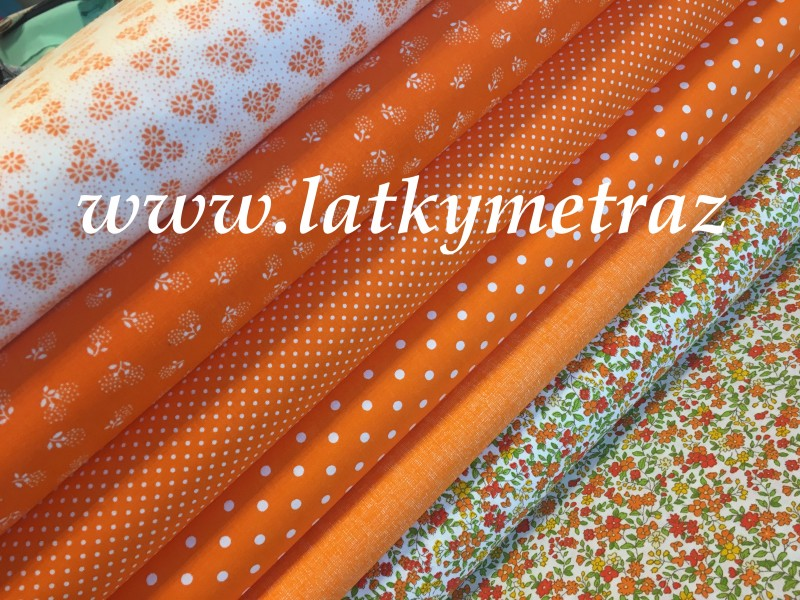 jarní kolekce oranž-jednobarevná