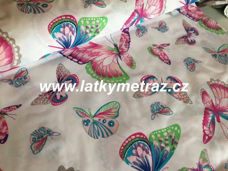barevní motýli-šíře 160 cm-zbytek 20 cm
