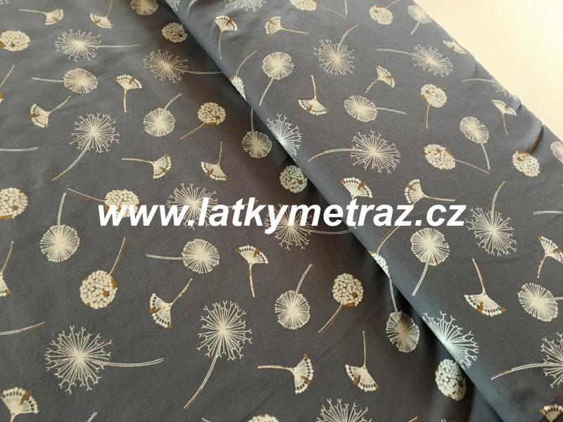 úplet-šedý  s pampeliškami-zbytek 30 cm