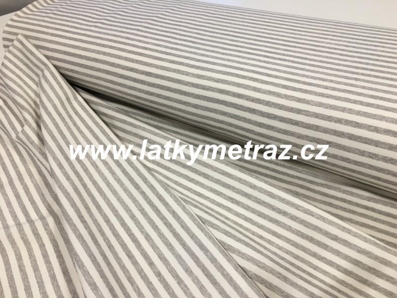 úplet-bílo-šedý proužek