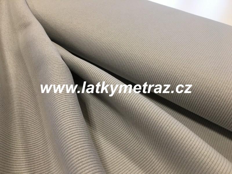 úplet-žebrovaný šedý