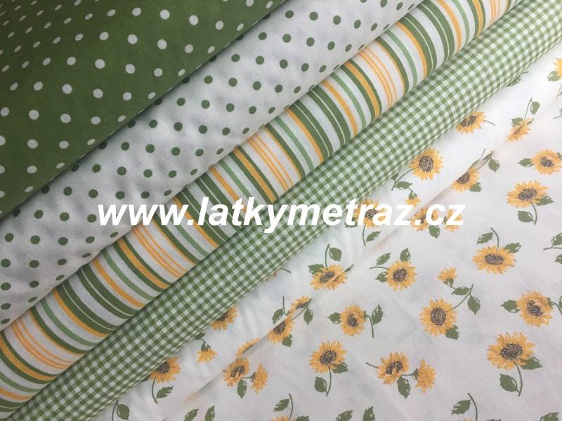 zelená kolekce-proužky