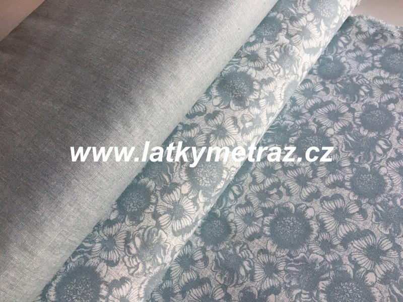 šedozelená kolekce-vzor krajka
