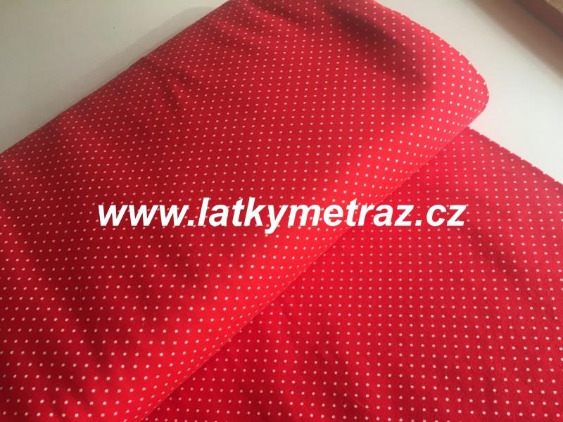 úplet-puntíček červený-zbytek 70 cm