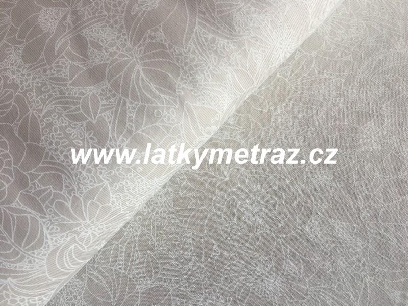 úplet-vzory na béžovém-zbytek 65 cm