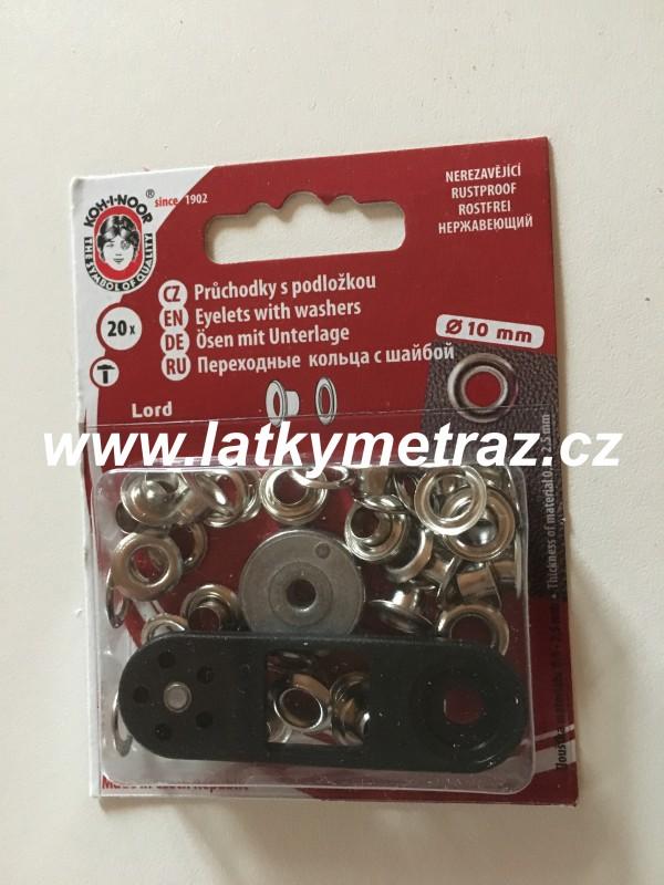 průchodky kovové lord 5 mm