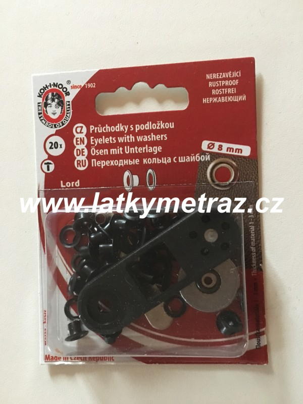 průchodky kovové lord 4 mm-černý nikl