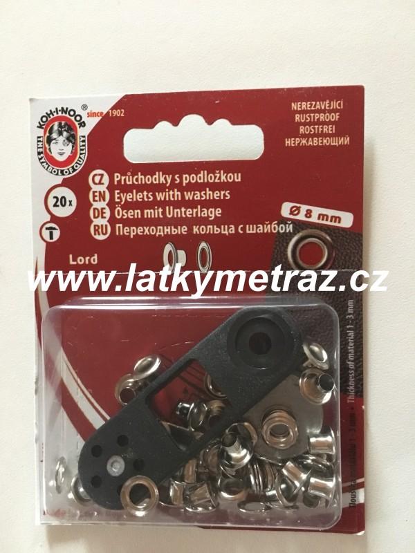 průchodky kovové lord 4 mm