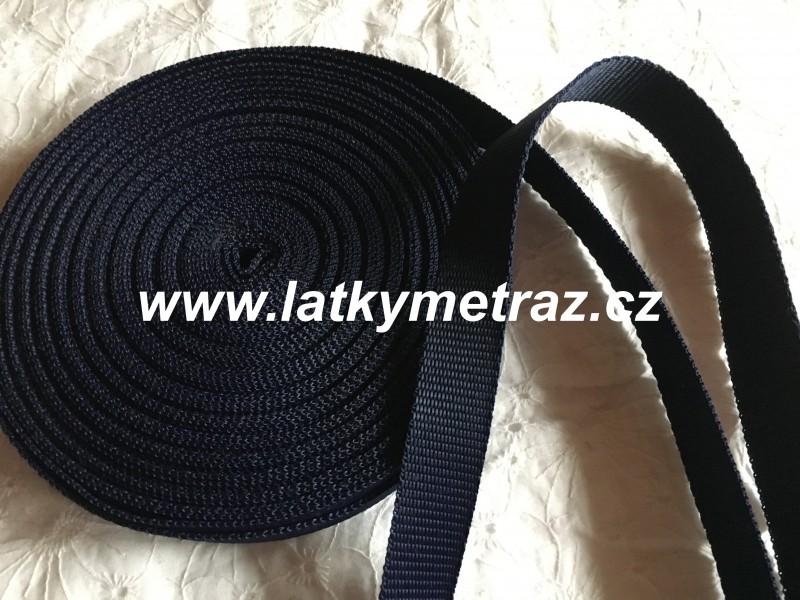 popruh tmavě modrý  šíře 25 mm