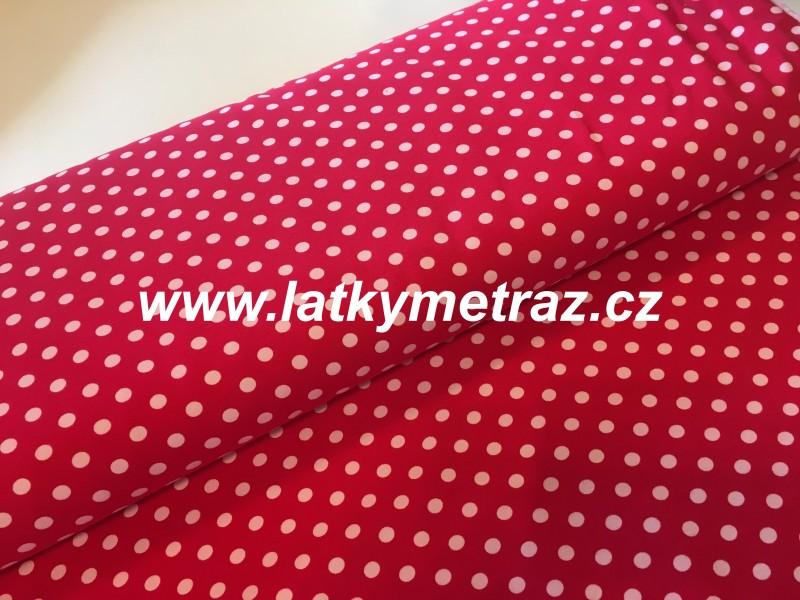 úplet puntík červenobílý-zbytek 80 cm