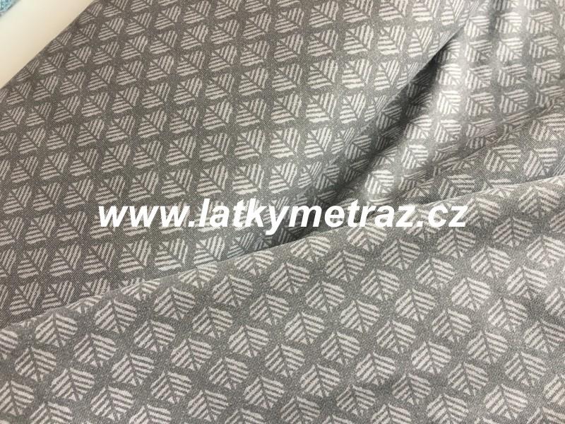 úplet-šedé vzory-zbytek 80 cm