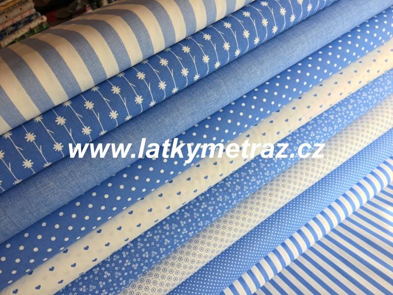 modrá kolekce-jednobarevná látka